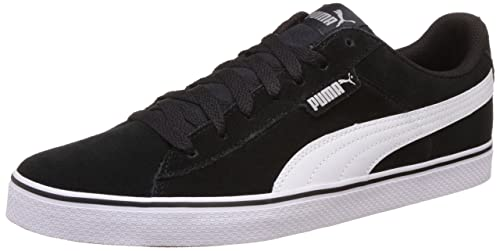 77ee36d4e72 Puma Unisex s 1948 Vulc Black and White Sneakers - 10 UK India (44.5 EU