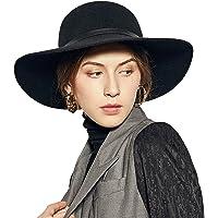 Sedancasesa Wide Brimmed 100% Wool Felt Floppy Hat Vintage Women Warm Triby Hats