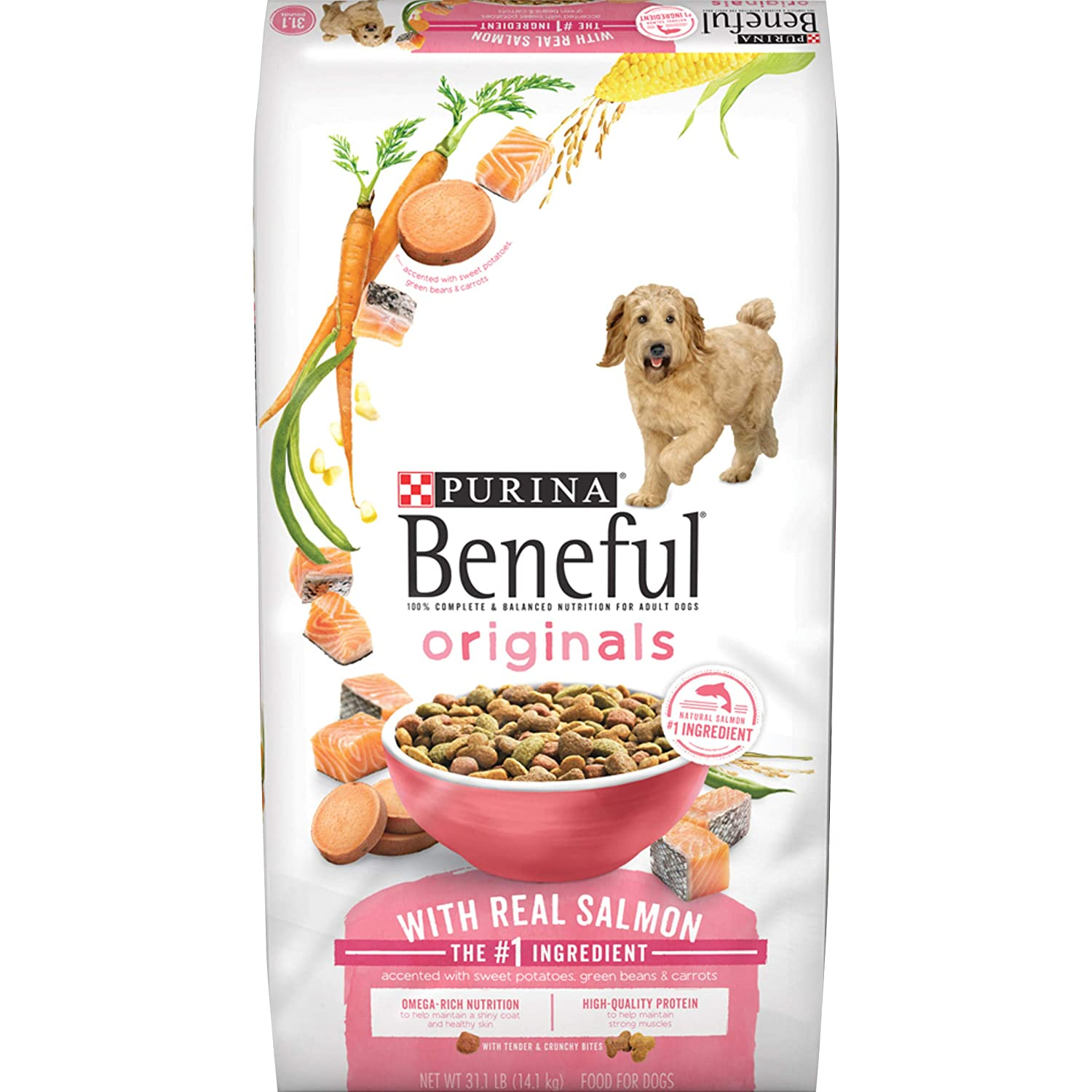 Purina Beneful Originals Adult Dry Dog Food – 31.1 lb. Bag