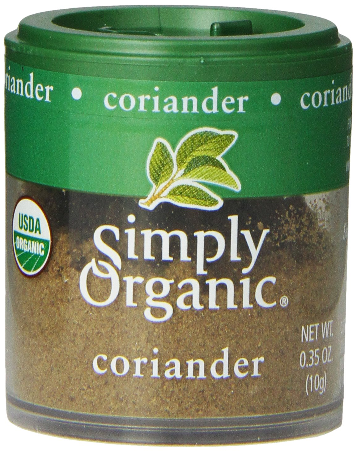Simply Organic Coriander Seed Ground Certified Organic, 0.35-Ounce Containers (Pack of 6)