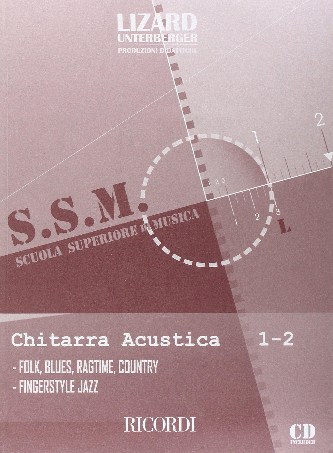 CHITARRA ACUSTICA - VOL. 1-2 Spartito musicale – 19 feb 2008 MASTRANGELO - UNTERBERGER Ricordi 0215107314 Musique - danse
