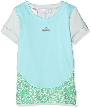 Adidas Stella Mccartney Barricade Camiseta de Chica, Azul Cielo, 9-10 Aã±Os: Amazon.es: Deportes y aire libre
