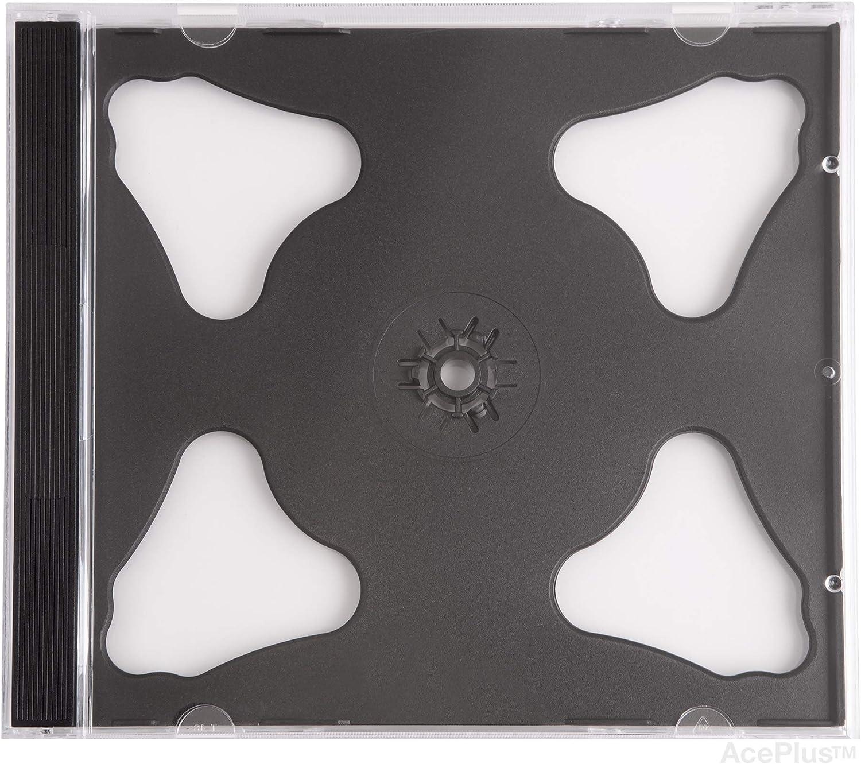 AcePlus CD case Black Double Assemble 10 Pieces