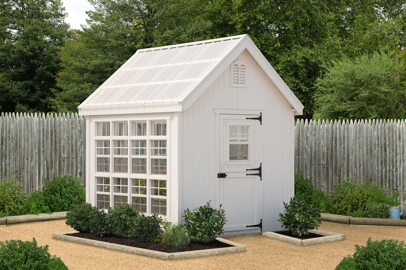 Little Cottage Company Colonial Gable Greenhouse, 8 x 8 , Primed Tan
