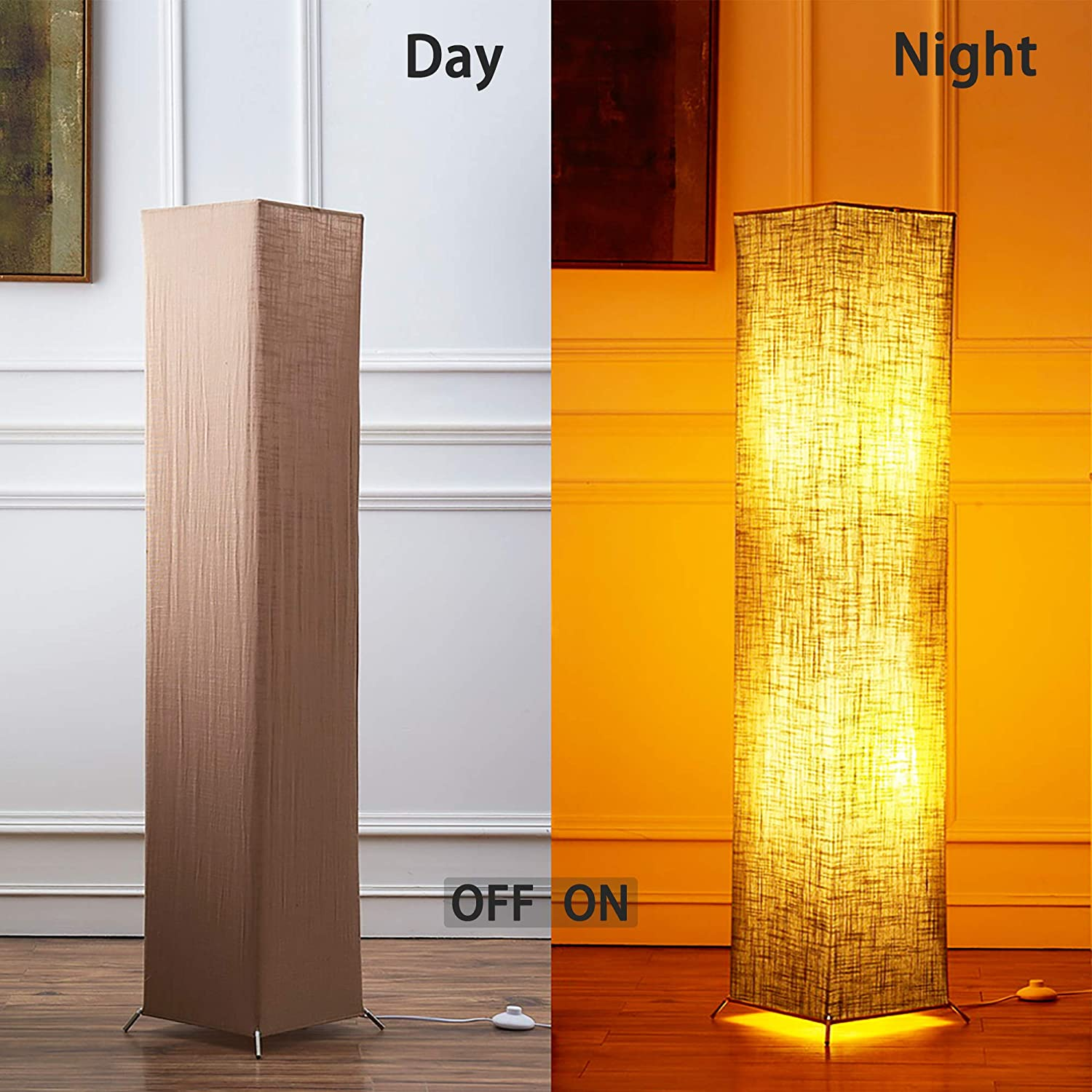 Bedroom and Office Floor Lamp CHIPHY Modern Standing Lamp Color Changing and Dimmable Smart RGB Bulbs Black Linen Shade and Romote Control 101061 inches Tall Light for Living Room