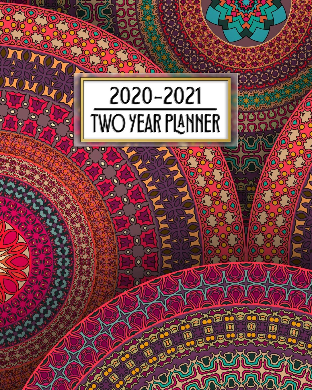 Amazon.com: 2020 - 2021 Two Year Planner: Pretty Colorful ...