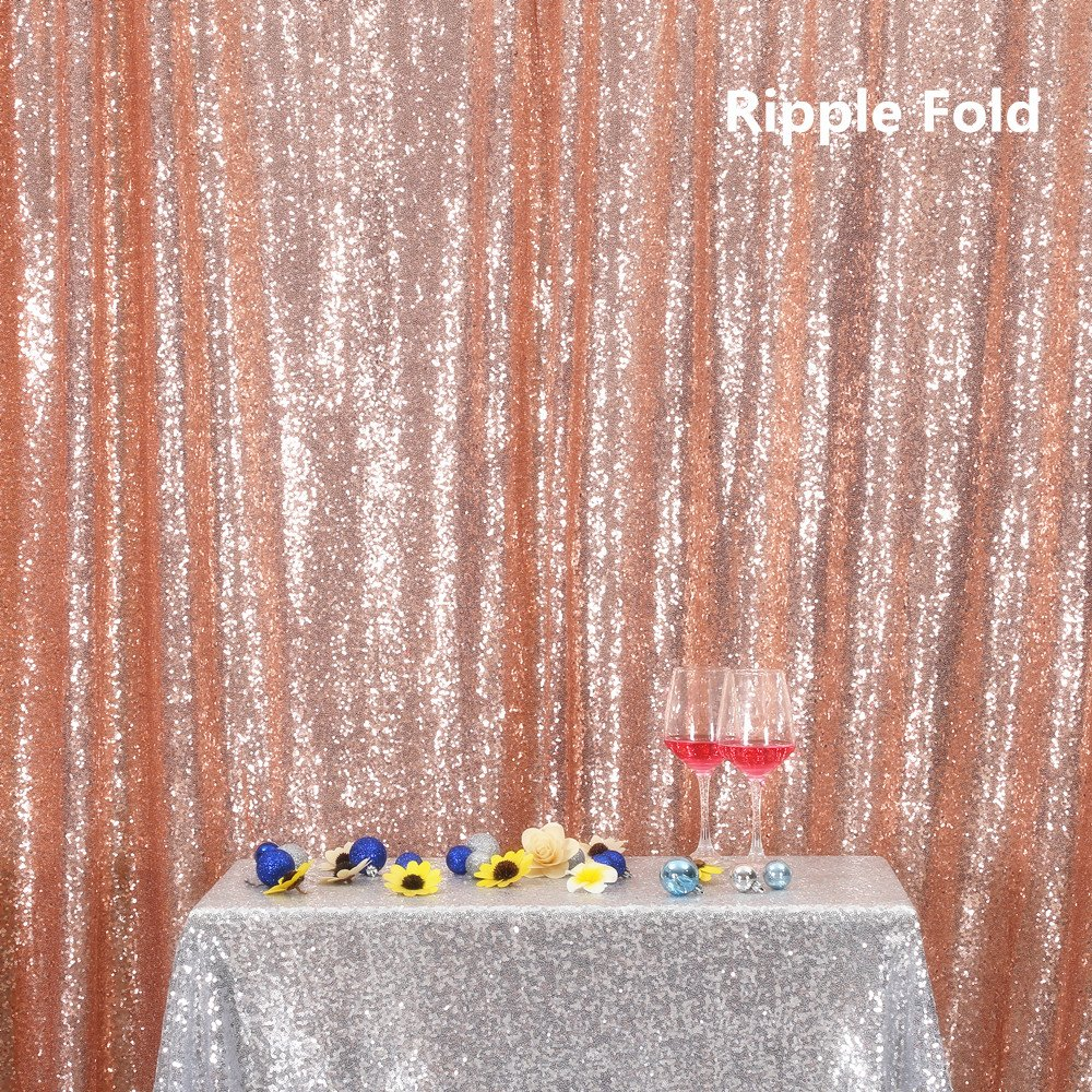Rose Gold PartyDelight Sequin Backdrop, Booth Photography, 8x8 Ft