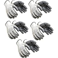 SAFEYURA Nylon Anti Cut Safety Hand Glove -5 Pairs