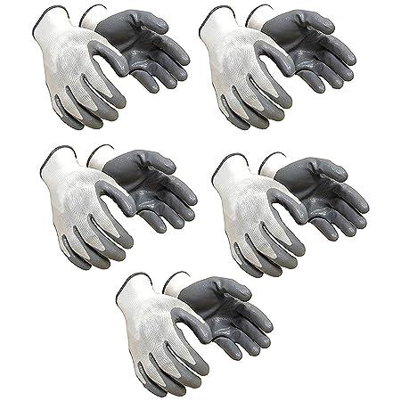 SAFEYURA Nylon Anti Cut Safety Hand Glove -5 Pairs