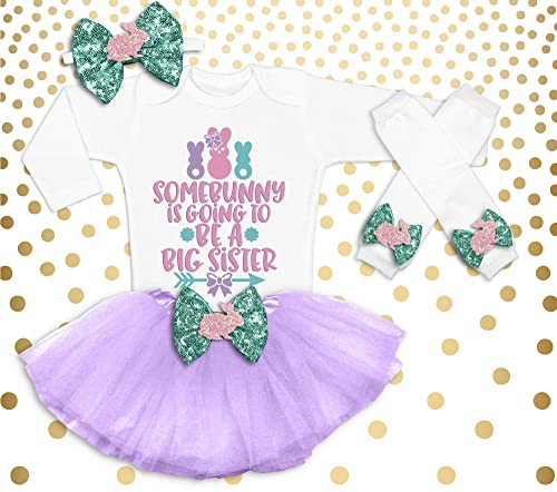 Some Bunny Loves Me Easter Tutu Shirt Headband 4th Fourth Birthday Girl Outfit