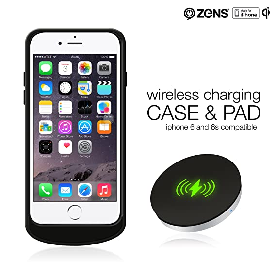 promo code 92499 c48d5 iPhone 7 Wireless Qi Charging Receiver Case and Wireless Charger Pad Bundle  by ZENS | Effective Wireless Charging for Your iPhone with a Slim Design |  ...