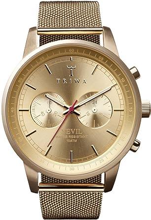 89e0f78b25 (トリワ) TRIWA Nevil Gold/ネヴィル・ゴールド・メッシュ 腕時計 #NEST104.