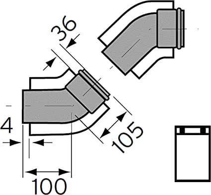Vaillant 0020209569/Kit Curve 45/Diam/ètre 60//100/turboMAG