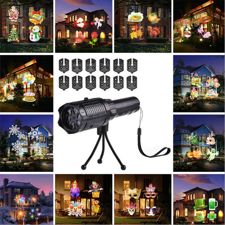 1 Weihnachten.Sport Freizeit Projektor Taschenlampe Kinder Tragbare 2 In 1 Usb