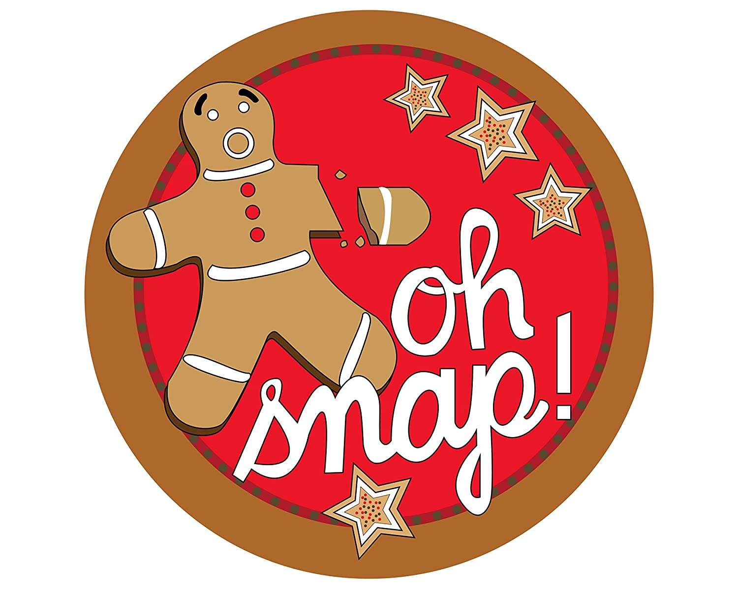 Oh Snap Gingerbread Man with Broken Arm 6 Magnet Seasonal Holiday Decoration for Car