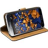 mumbi Etui Cuir Samsung Galaxy S5 / S5 Neo en Book Style - Etui à Clapet Portefeuille Étui Housse Protecteur Pochette Bookstyle noir / Pied Pivotant