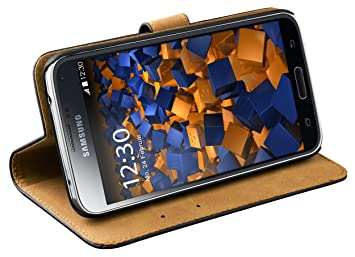 mumbi Ledertasche im Bookstyle für Samsung Galaxy S5 / S5 Neo Tasche