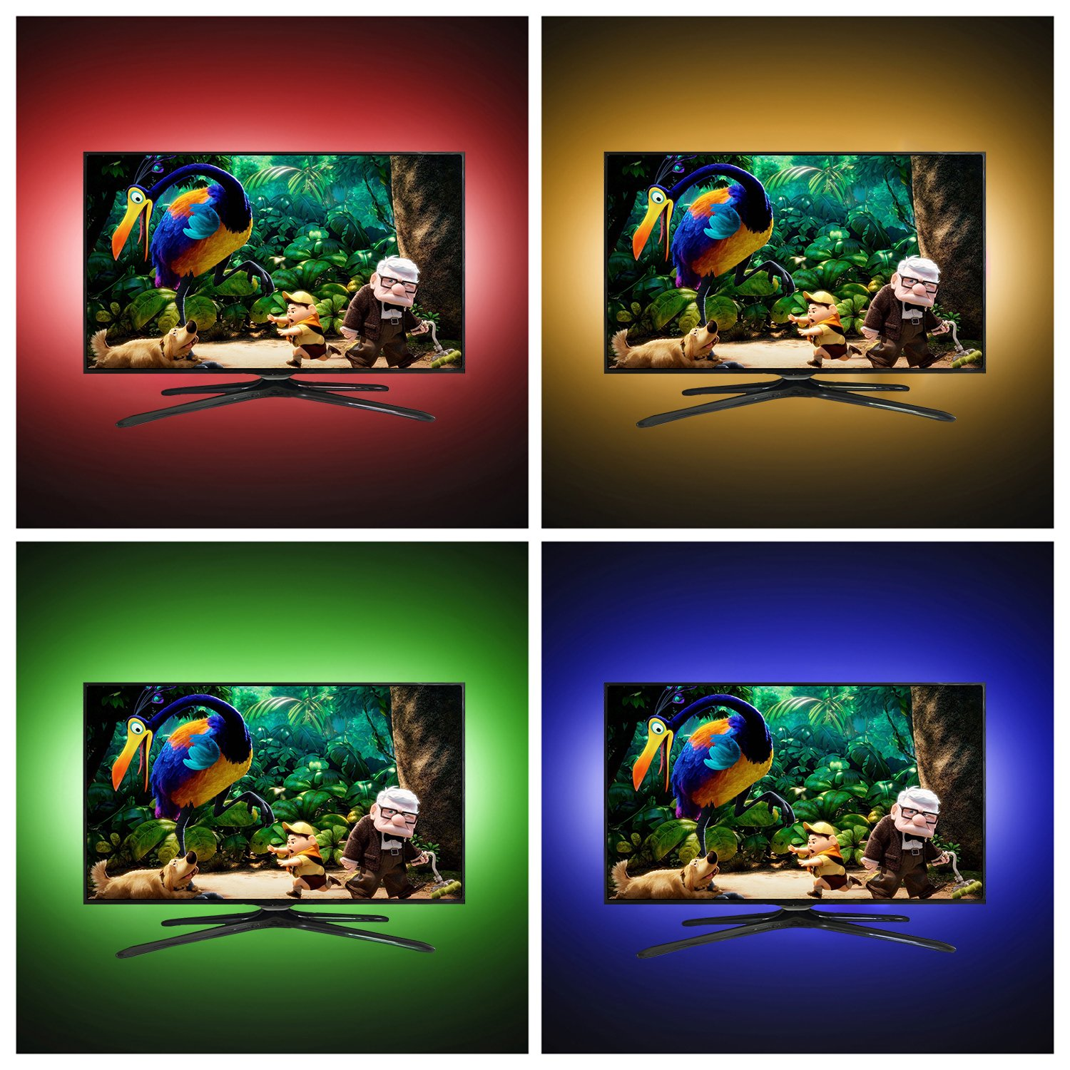 WENICE LED TV backlight 55inch-65inch TV to 70inch, USB LED strip lights Kit 3m/9.9ft with 24key IR Remote - 16 Color 5050 Leds Bias Lighting for HDTV(118in) by WENICE (Image #6)