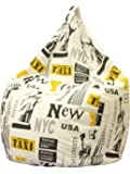 13Casa - New York B5 - Poltrona sacco. Dim: 70x70x110 h cm. Col: Fantasia. Mat: Cotone misto.