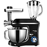 MIC Stand Mixer 3 in 1 Multi-Functional 5.5L Large Capacity Electric Meat Grinder Juice Blender 1100W Durable Mixing…