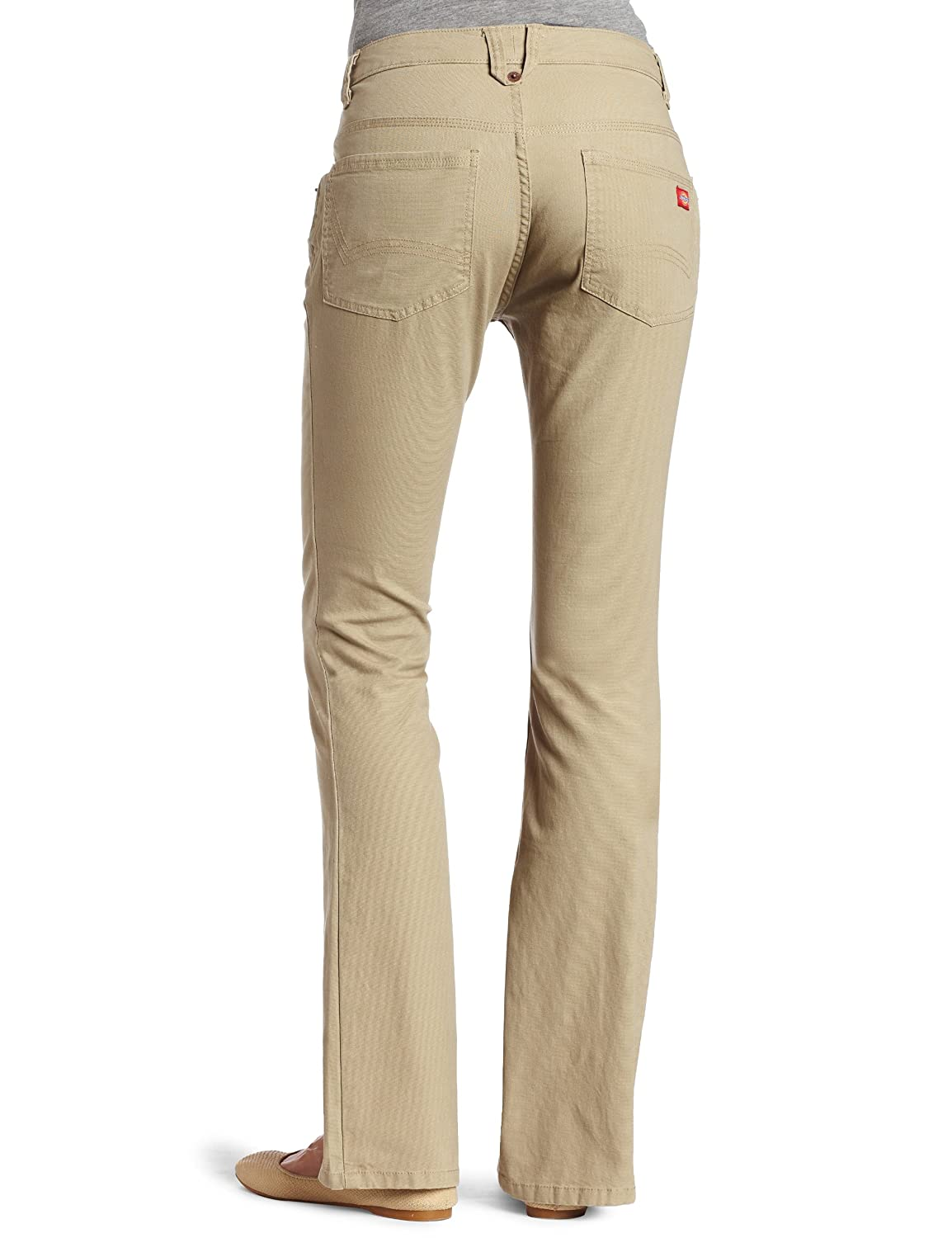 Dickies Womens Slim Boot Cut Stretch Canvas Pant