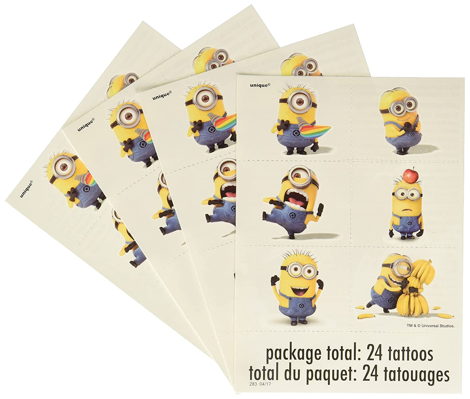 Despicable Me Minions Temporary Tattoos, 24ct