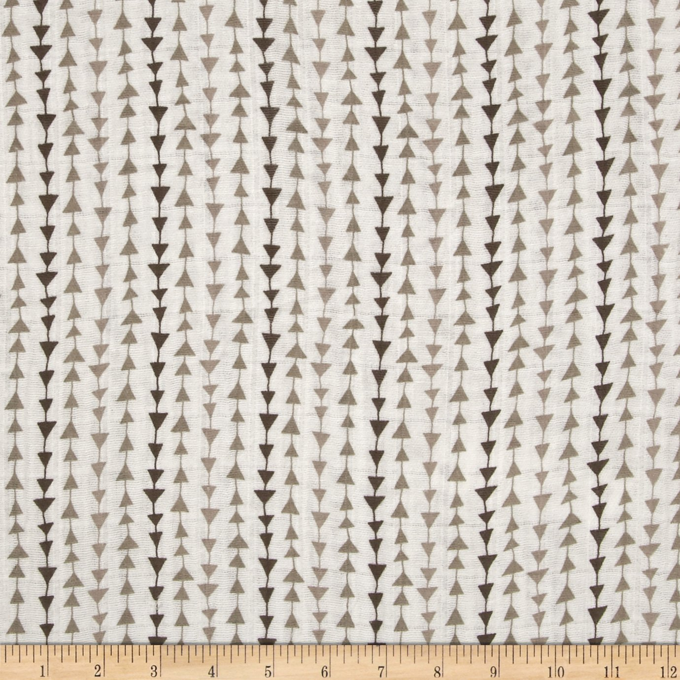 Embrace Double Gauze Arrows Natural Fabric By The Yard Shannon Fabrics