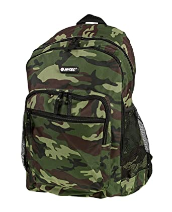 c8b683f7c320 Boys Mens Hi-Tec Camouflage School Backpack Rucksack (Army Green Army  Grey Desert) (Army Green)  Amazon.co.uk  Shoes   Bags
