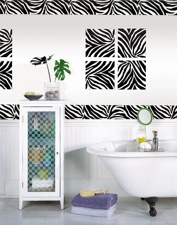 Wall Pops WPS99052 Peel And Stick Go Wild Zebra Decals, 6.5 Inch X 16 Feet  Stripe, Black   Decorative Wall Appliques   Amazon.com