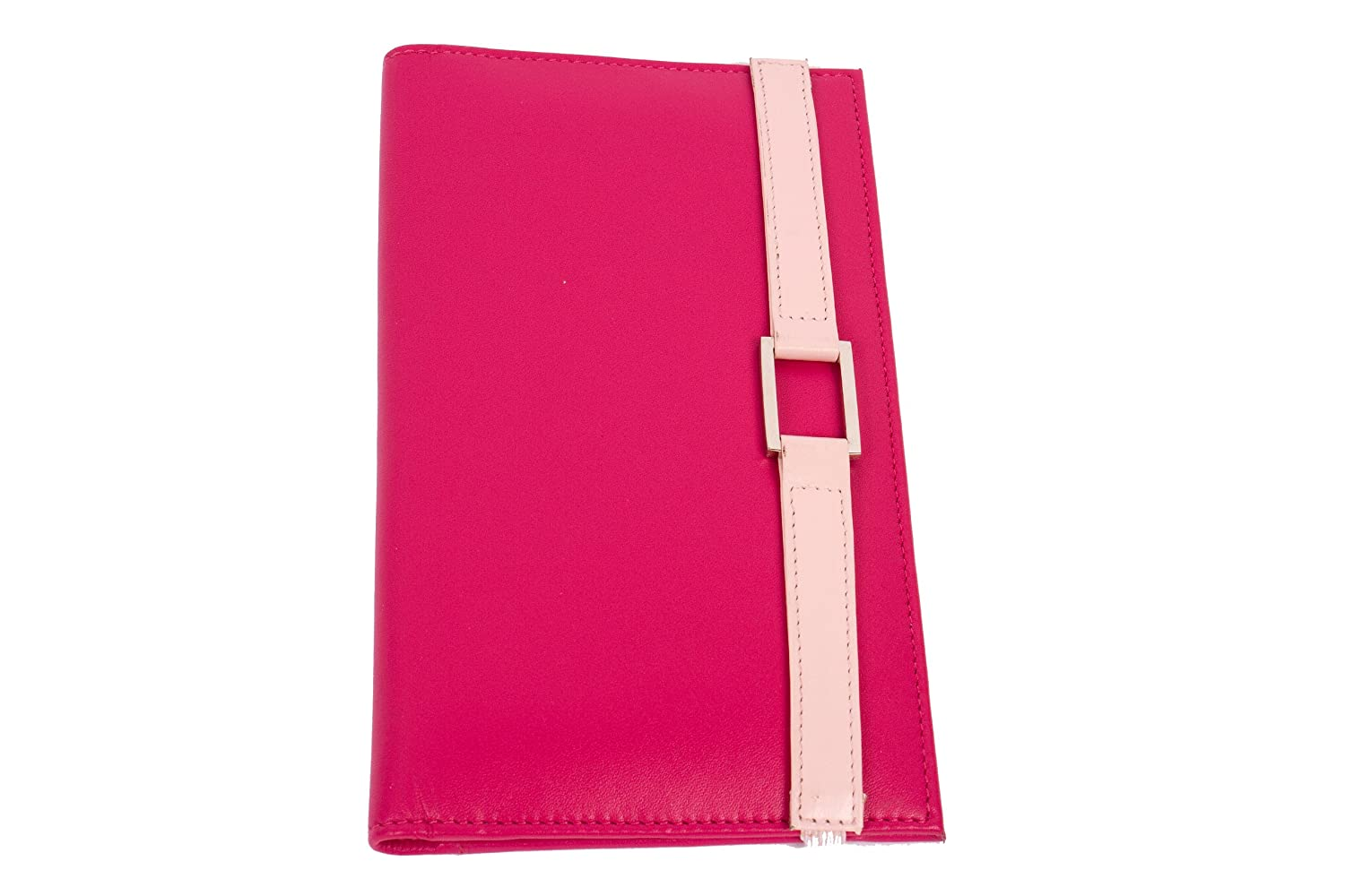 Leather Travel Wallet- Hot Pink with Pale Pink Accent RKW Collection Inc. 2086HPPP