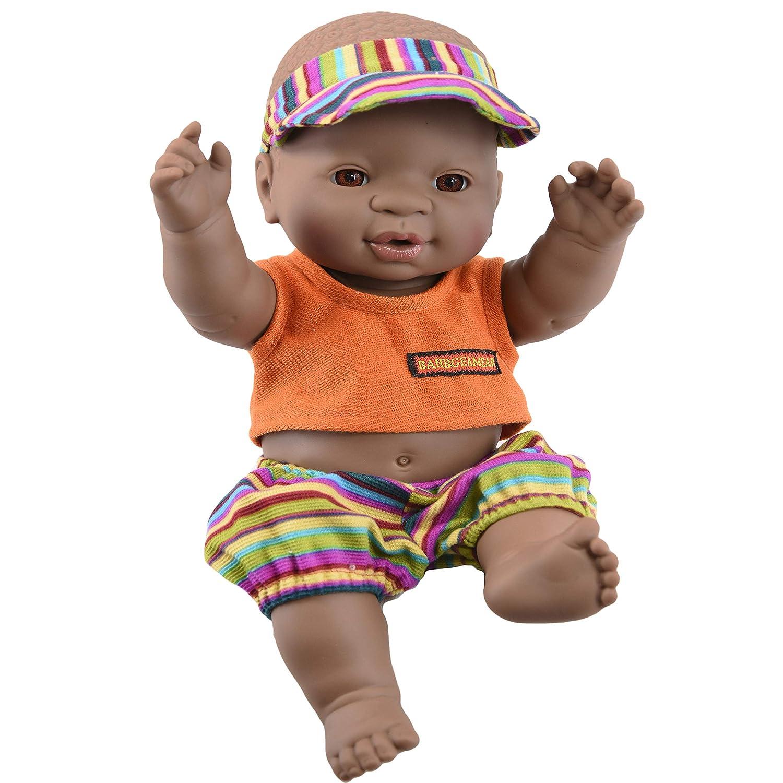 Anatomically Correct The Magic Toy Shop 12 Realistic Lifelike Vinyl Black Dark Skin Twin Dolls Ethnic African Style Baby Doll