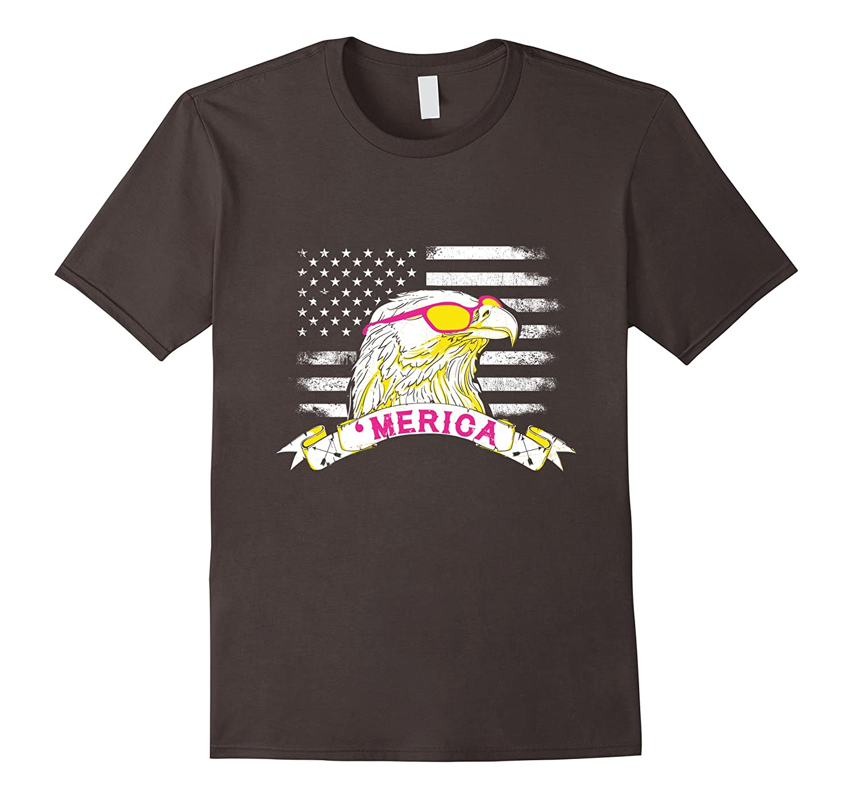 MERICA Epic USA Patriotic American Flag T-Shirt Eagle Shirt-CD