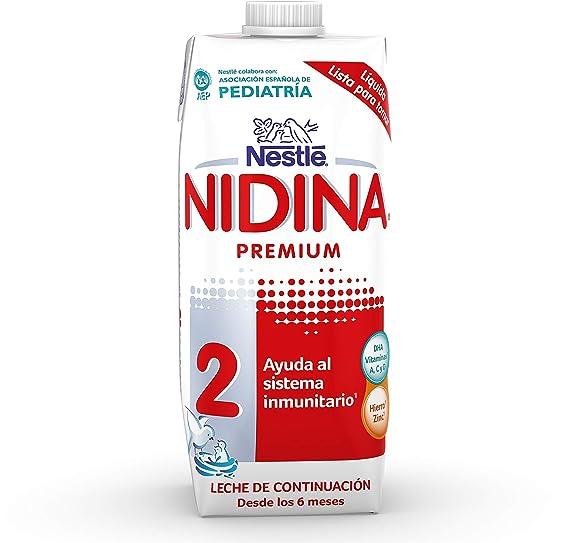 Nestlé NIDINA 2 - Leche de continuación líquida - Fórmula Para bebés - A partir de