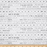 Art Gallery Maker I'm a Maker Fabric By The Yard