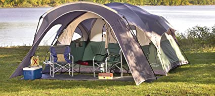 NorthPole 2 - room Dome Tent Gray / Green / Off - white & Amazon.com : NorthPole 2 - room Dome Tent Gray / Green / Off ...