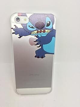 Coque Iphone 5 5S Transparente Stitch qui tient la pomme Apple ...