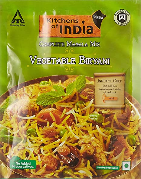 Kitchens Of India Vegetable Biryani Masala Mix, 80g