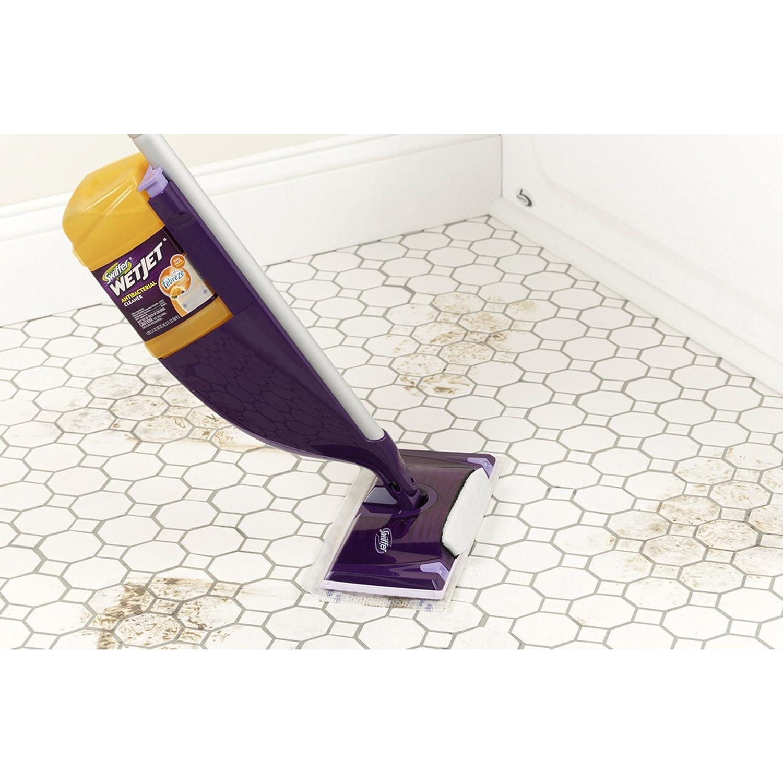 Swiffer wetjet wood floor cleaner - Amazon Com Wetjet Spray Mop Floor Cleaner Club Starter Kit Health Personal Care