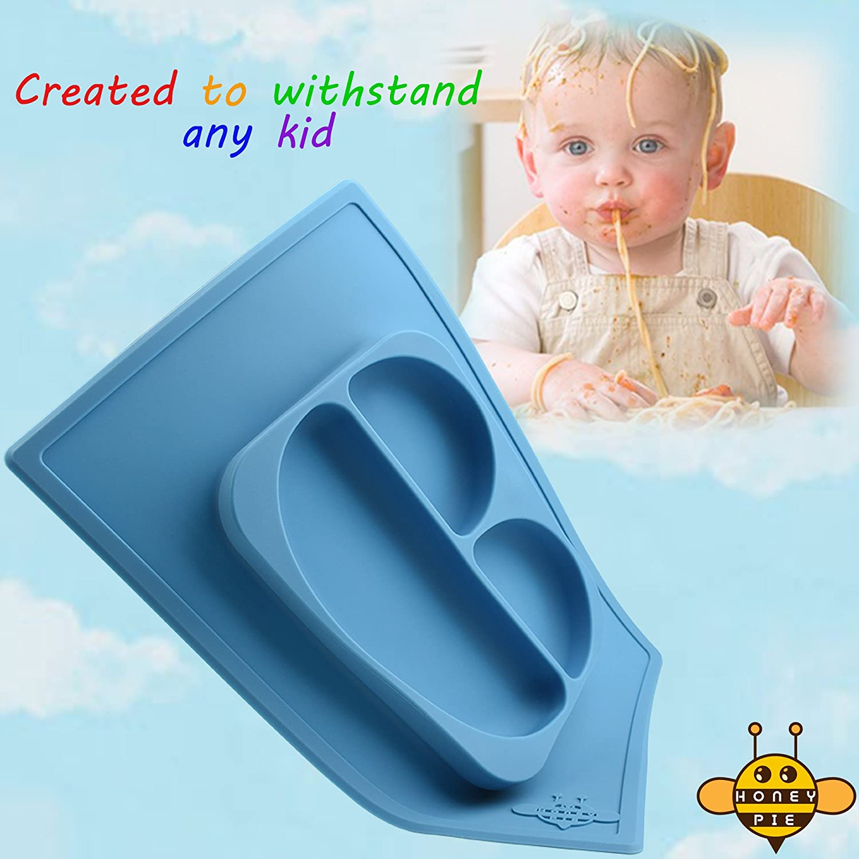 Amazon.com : Honeypie 1-Piece Silicone Baby Feeding Divided Tray ...