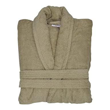 Bang Tidy Clothing Men s Personalised Bathrobes Embroidered Name Dressing  Gowns Gifts Beige Small Medium 39fa83147