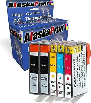 Alaskaprint 364XL Cartuchos de Tinta Compatible para HP 364 con HP ...