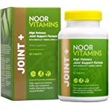 NoorVitamins JOINT+ w/ Glucosamine, Hyaluronic Acid, Calcium, Magnesium, Turmeric & Natural Ingredients. Supports Joint healt