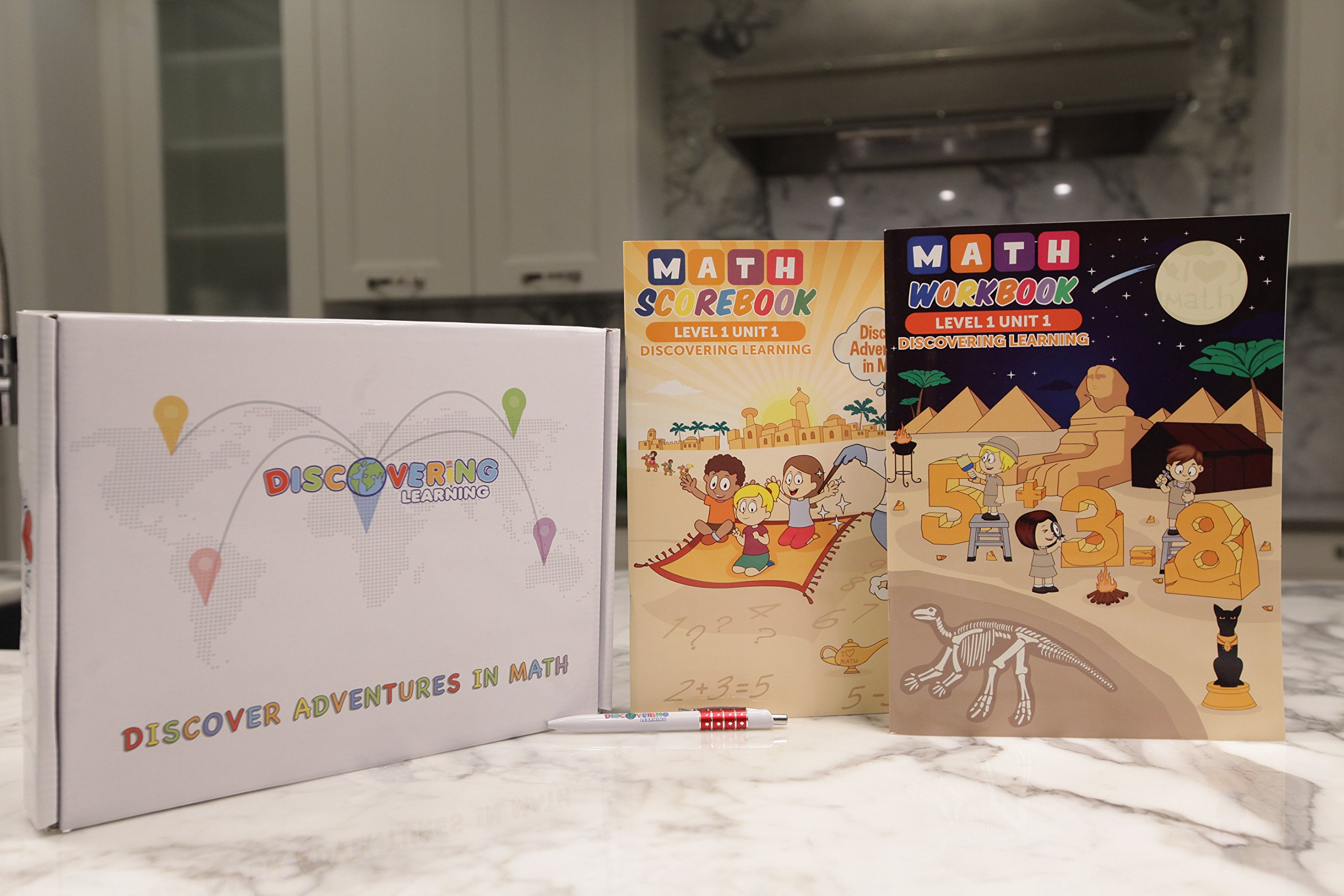 Discovering Learning - Fun MATH Program- Level 1 Unit 1 (ages 4-6) - WORKBOOK and SCORE BOOK by Discovering Learning Inc.