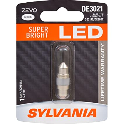 SYLVANIA - DE3021 31mm ZEVO LED Festoon White Bulb - Bright LED Bulb, Ideal for