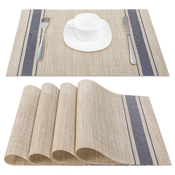 保护您的桌面,增加就餐美感的餐垫4个