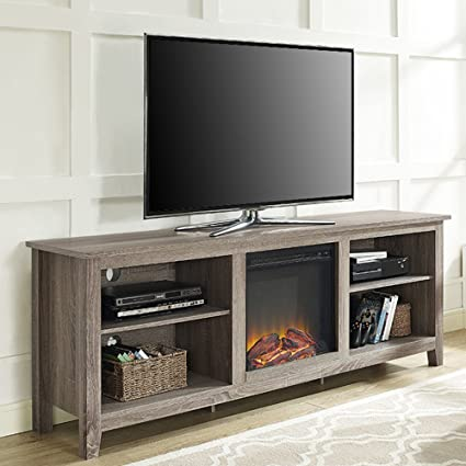 Amazon Com Electric Fireplace Tv Stand For Tvs Up To 70