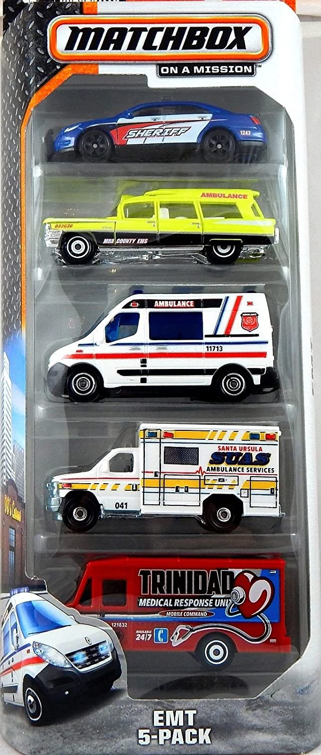 2015 Matchbox on a Mission EMT 5 pack Emergency Vehicle by Mattel: Amazon.es: Juguetes y juegos