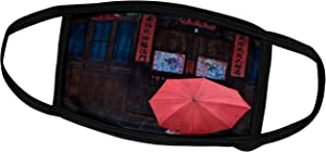 3dRose Danita Delimont - China - Traditional Wood Door, Kaili, Guizhou, China - AS07 KSU1500 - Keren Su - Face Masks (fm_132464_1)