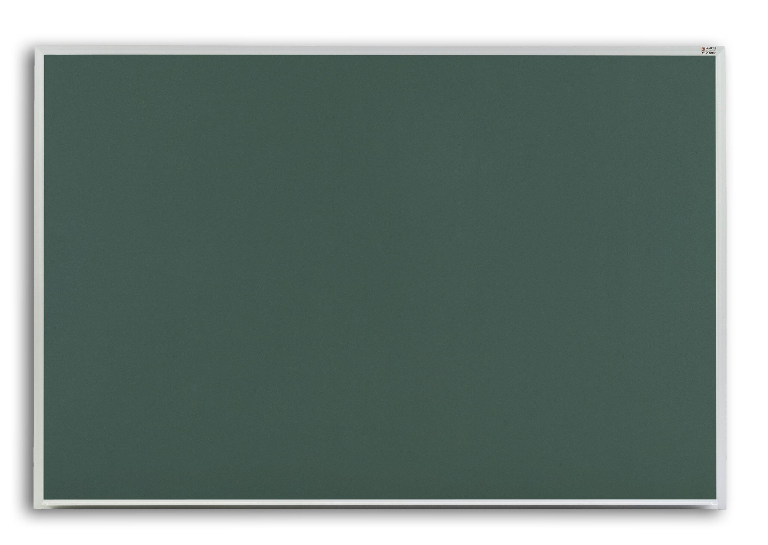 Marsh Pr516-3431-6500 Pro-Rite 60X192 Green Porcelain Chalkboard, Standard With Hanger Bar Aluminum Trim / 1'' Map Rail