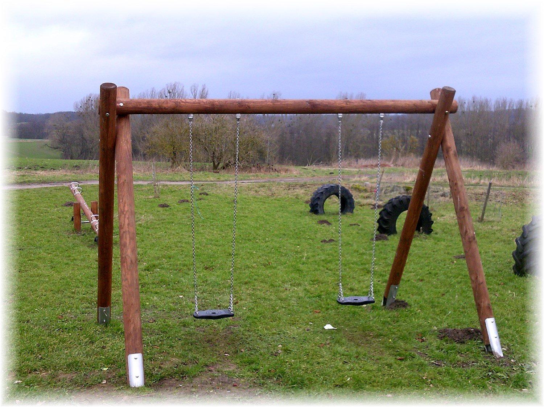 LoggyLand 9691 - Doppelschukel aus Lärchenholz Ø16cm - öffentlich